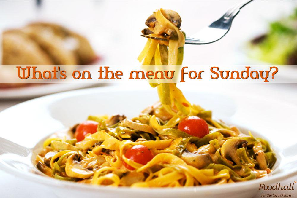 Foodhall,  SundayFunday, cooking, pasta, brunch, lunch