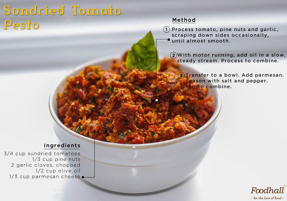 Sun dried tomato Pesto- Rich, flavourful and super simple.  Try it out!  #simpleasthat #Pesto #VivaItaliano http://t.co/CRXnPaZBjz