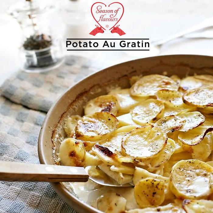 Thinly sliced potatoes layered with creamy #cheese sauce! Taste the tempting #PotatoAuGratin at Foodhall #foodporrn http://t.co/RVqzPyltWR