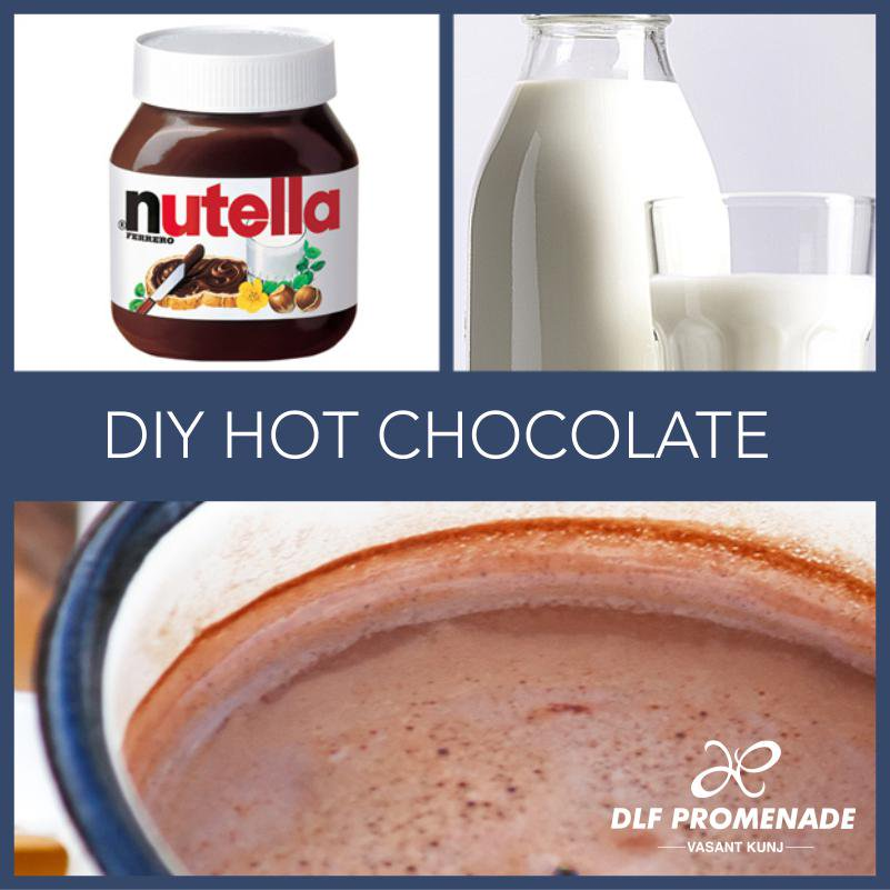 RT @PromenadeDLF: #DIY Hot Chocolate! Shop for the ingredients from @ChefJayFoodhall #DLFPromenade http://t.co/FJoZGKUIM6
