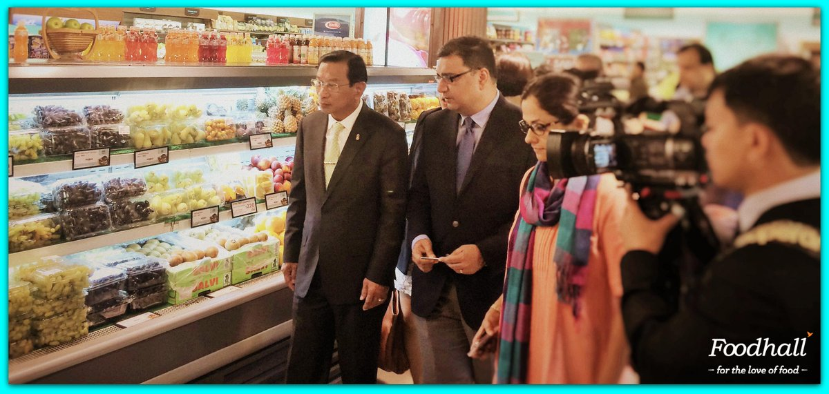 A special day for us when General Chatchai Sarikulya, Minister of Commerce, Thailand visited Foodhall @PalladiumMum http://t.co/3U0FTF1e20