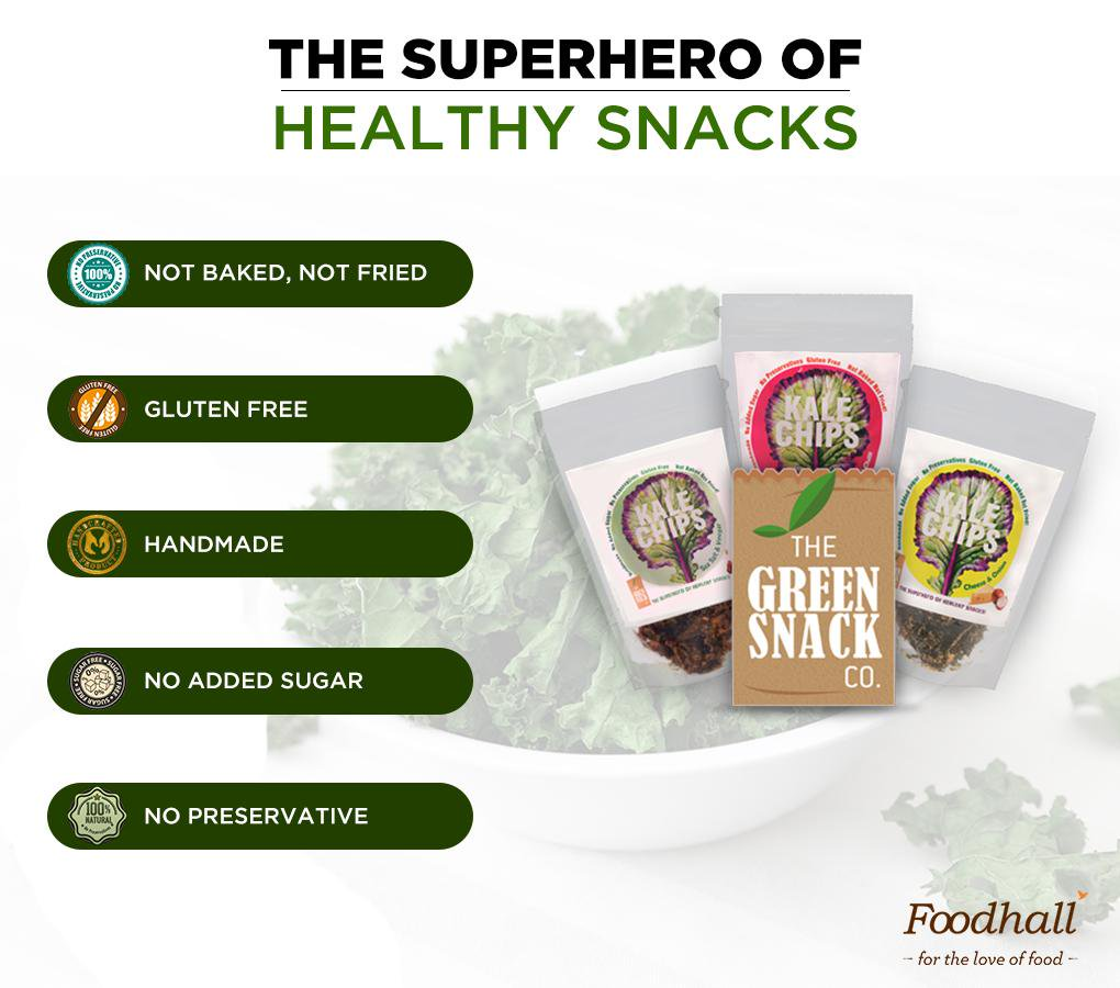 Perfect combination of #healthy & tasty in @TheGreenSnackCo's range of #kale chips! Try it at Foodhall @PalladiumMum http://t.co/qqqTs6UQaO