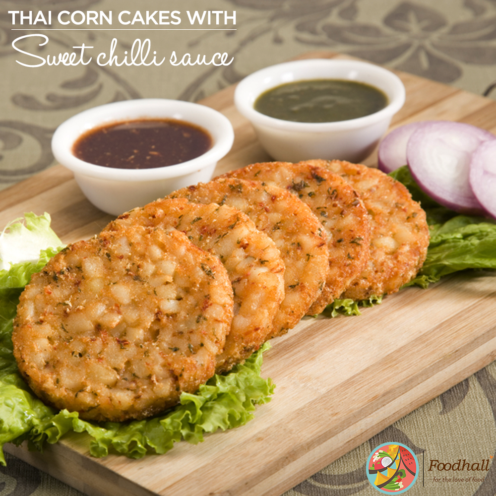 Great as a light snack,taste these fried corn cakes with sweet chilli sauce @ Foodhall @PalladiumMum @PhoenixMCtyPune http://t.co/WDw57CLnOc