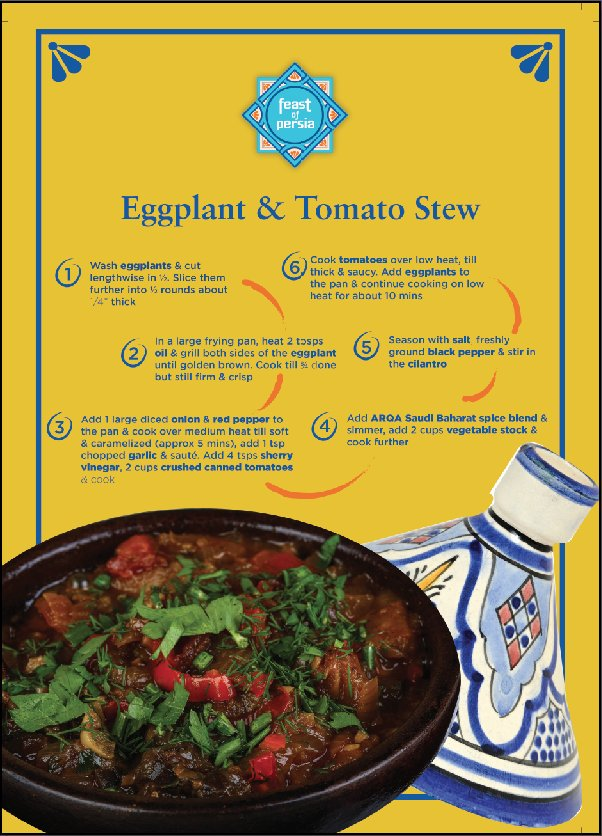 Bring in the taste of Persia in your kitchen with this aromatic and spicy eggplant and tomato stew recipe. https://t.co/zT9EXnN6aL