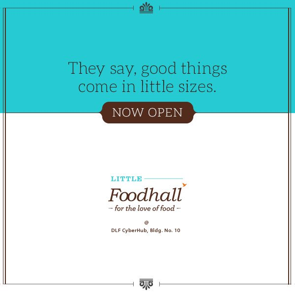 Gurgaon, we have some good news! Little Foodhall @ DLF CyberHub is now open, drop by for some delicious delights. https://t.co/ebjwNxtQbF