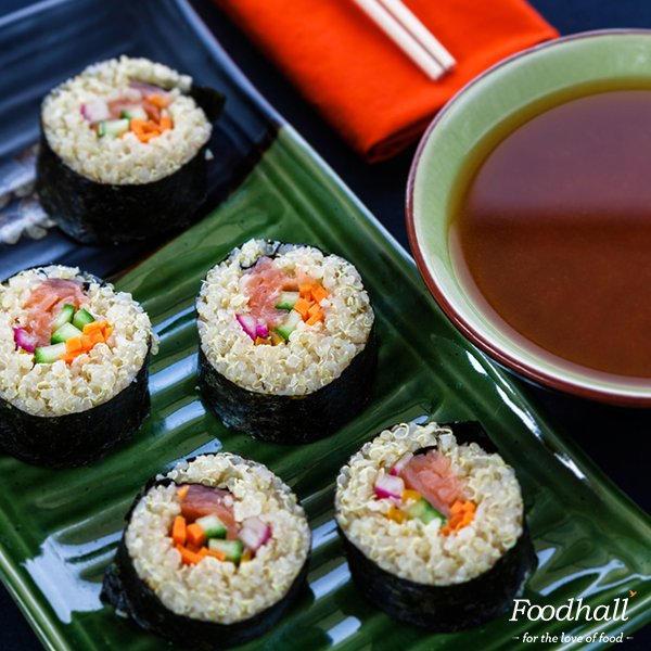 Our California Sushi rolls with the #healthy addition of superfood Quinoa make #lunch more nutritious and tasty! https://t.co/UL0Ad9Etd4