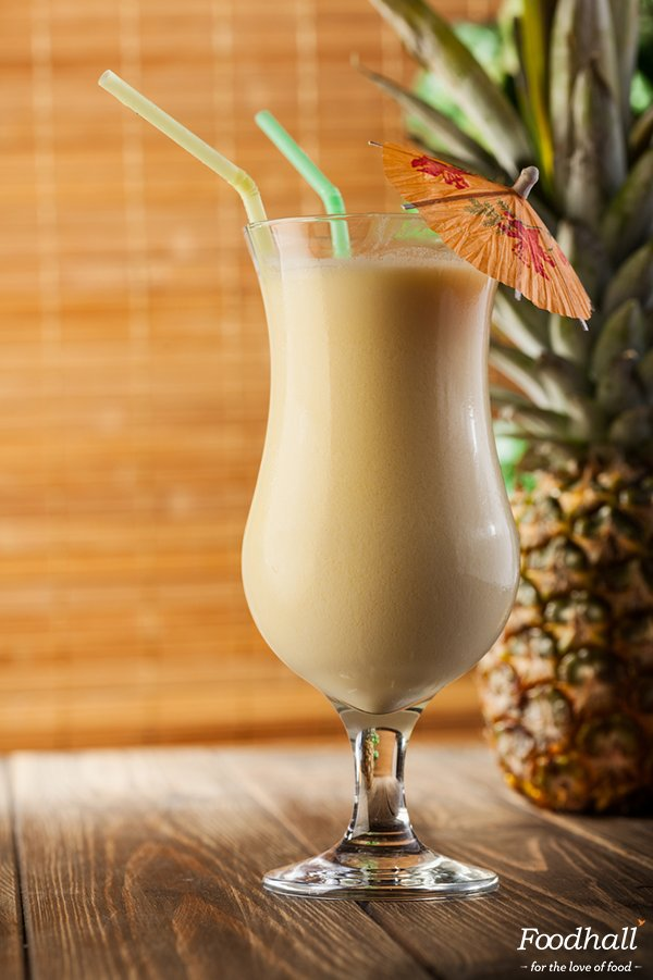 Rejuvenate with a pina colada smoothie! Blend pineapple, coconut milk, banana, ice, honey until smooth & serve cold https://t.co/M2n1178j3c