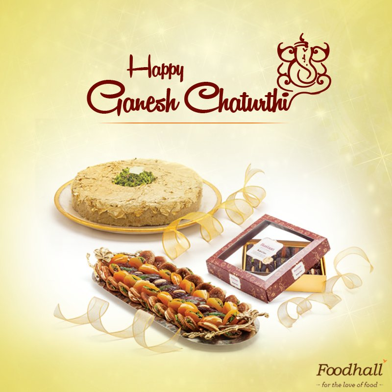 Welcome Lord Ganesha with the sweetest flavours from Foodhall. https://t.co/eR2iV3Fumx