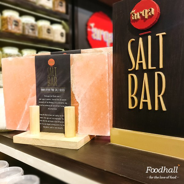 Visit the Arqa station at our stores & get your hands on these gorgeous blush-hued blocks of Himalayan Pink salt to cook & serve in style! https://t.co/DSAFZM9gBR