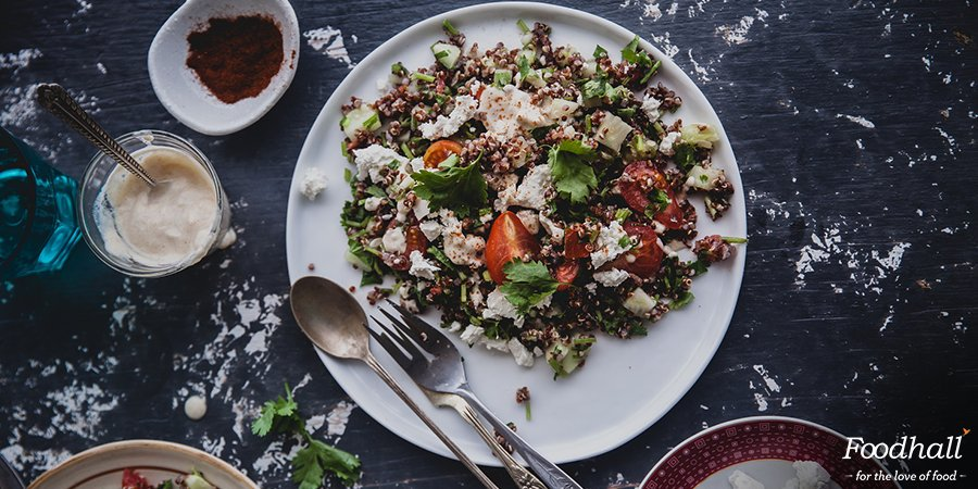 .@playfulcooking knows the way to your heart & #health! Try Levantine 'Tabbouleh' with Red Quinoa for a light meal: https://t.co/VP59Dy8GRJ https://t.co/W4LhKVg4xM