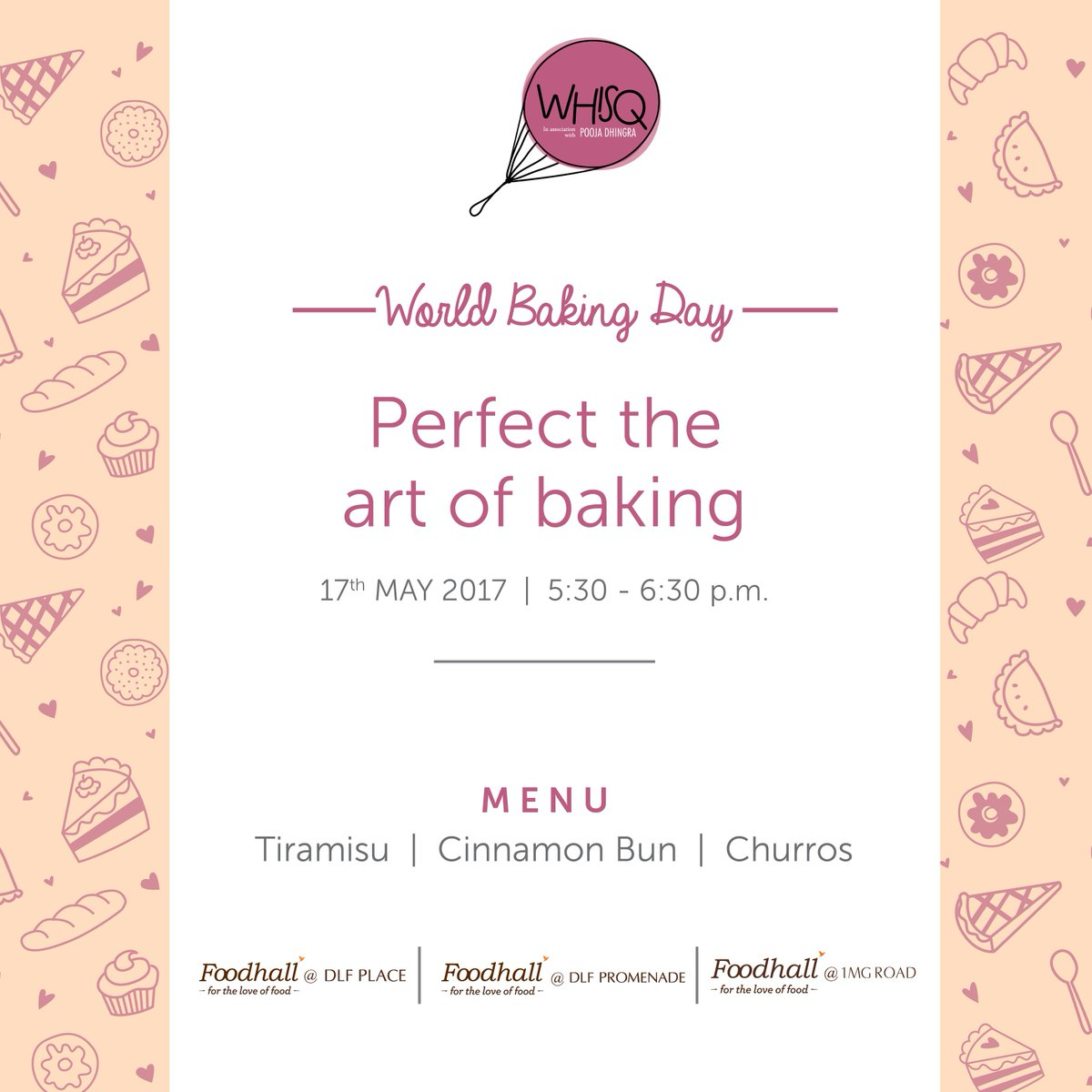 Perfect the art of baking this #WorldBakingDay! Let us help you prepare delectable desserts from around the world!  @WhisQIndia https://t.co/fMu6h0PUsM