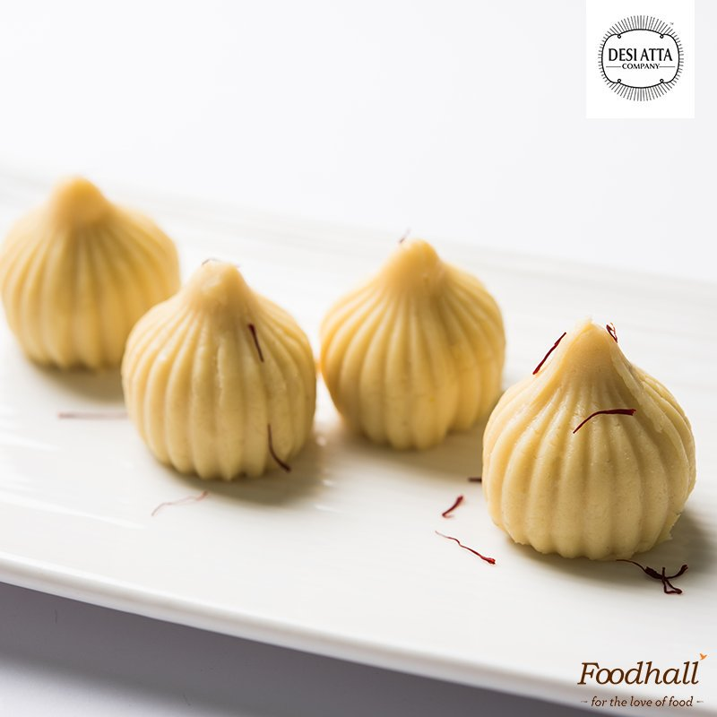 The best part of #GaneshChaturthi is Modak. We're going gluten free with @desiattacompany's Modak Atta - available at our stores #MeraModak https://t.co/D7t8Ned03s